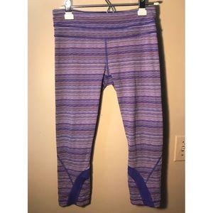 Lululemon Run Inspire Crop II Space Dye Leggings 8